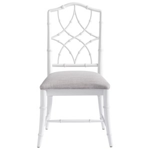 Keeping Room Upholstered Chair with Intricate Chair Back Design