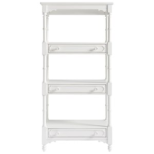 Bungalow Cottage Etagere with a Bamboo Inspired Frame