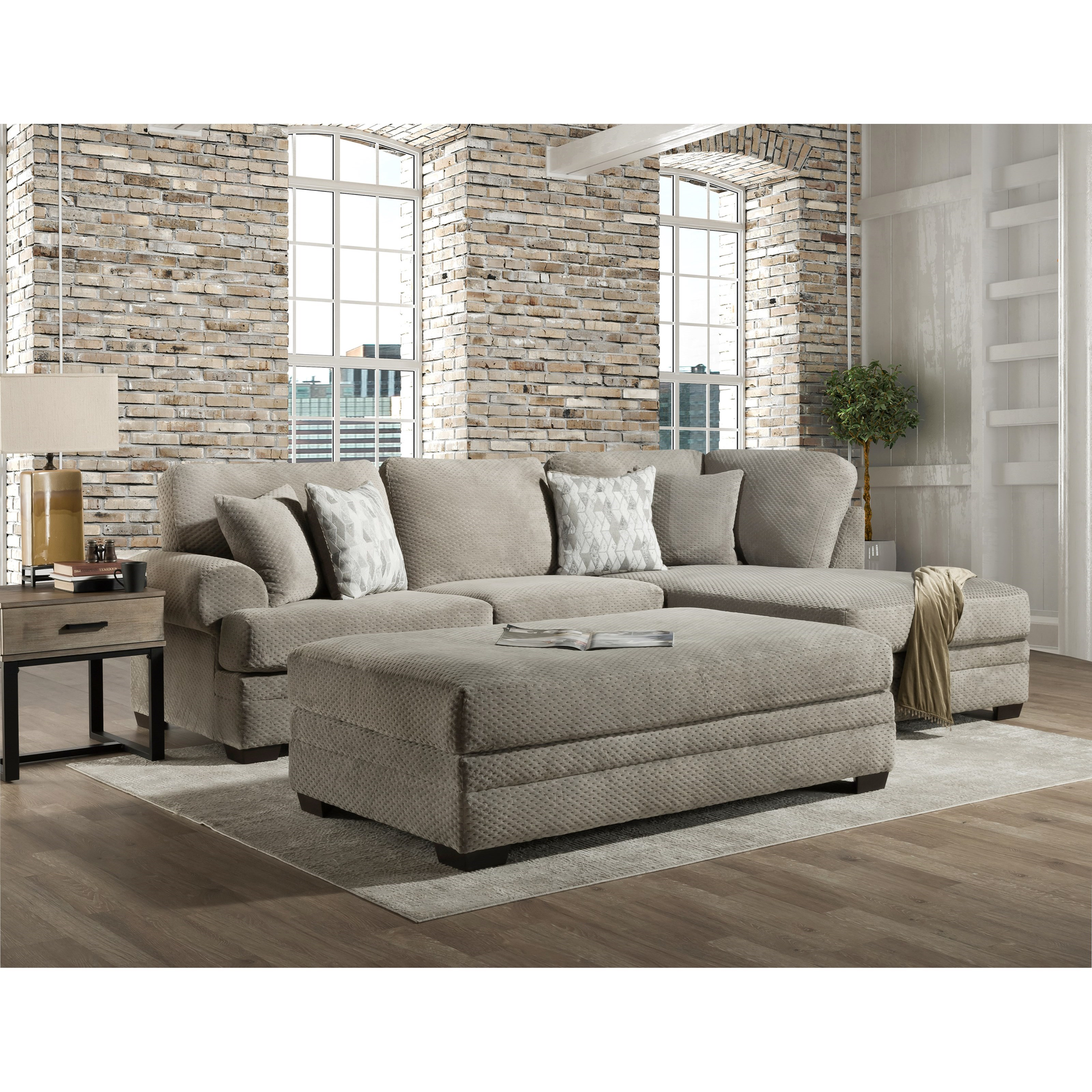 7000 Three Seat Sectional with Rounded Arms by Peak Living at Steger's Furniture