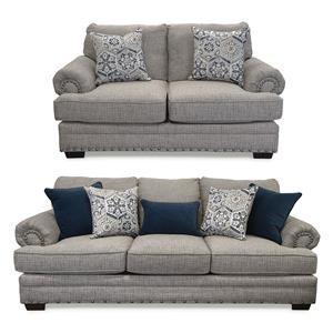 2PC Sofa & Loveseat Set