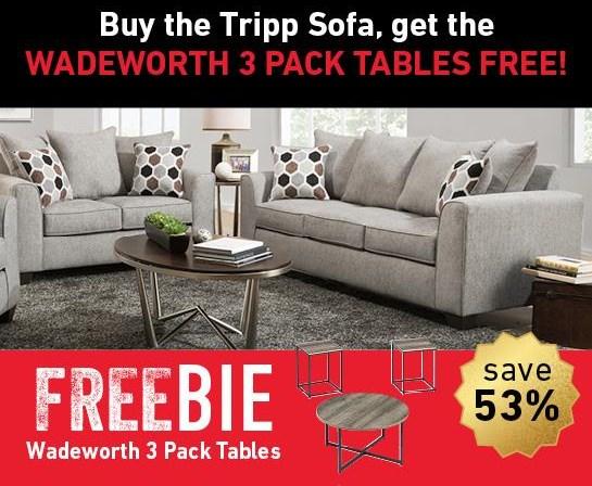 Tripp Tripp Sofa with Freebie! by Peak Living at Morris Home