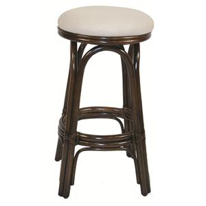 "24"" Counter Stool with Round Upholstered Seat"