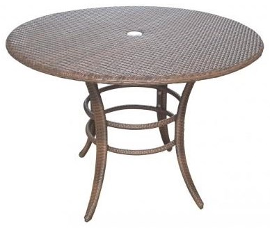 Key Biscayne Woven Outdoor Dining Table by Pelican Reef at Wilcox Furniture