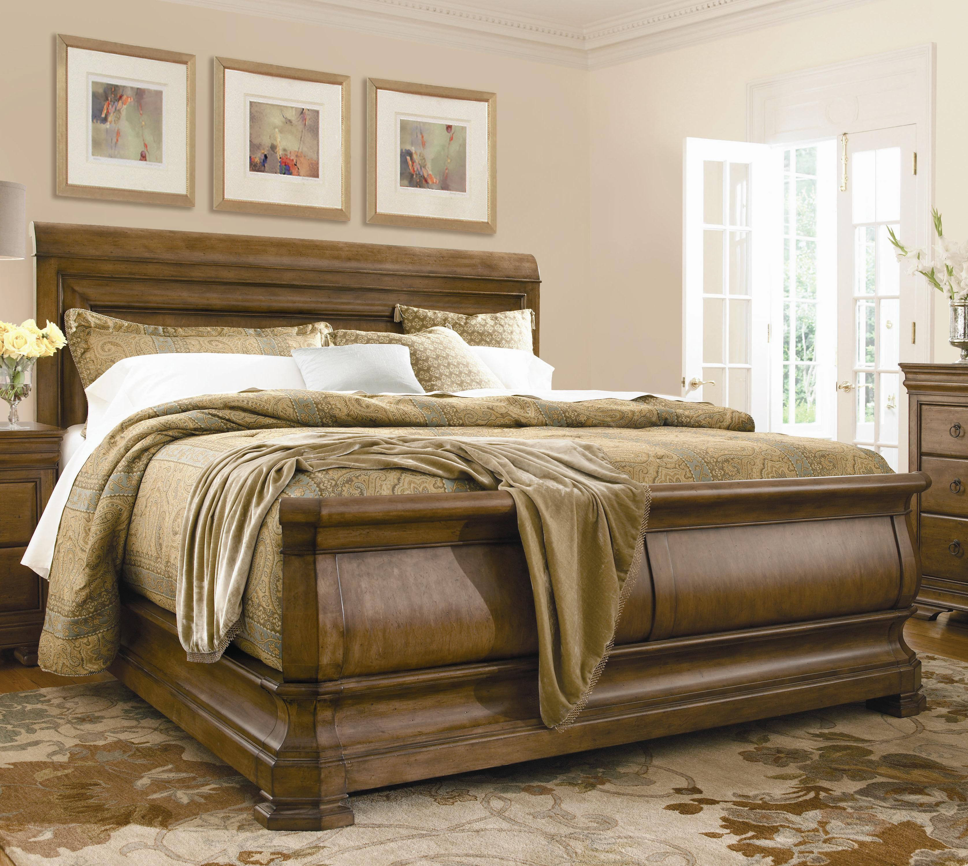New Lou King Louie P's Sleigh Bed by Universal at Baer's Furniture