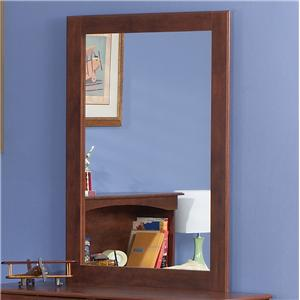 Tall Cinnamon Portrait Mirror with Supports