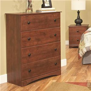 Casual Warm Cinnamon 4-Drawer Chest