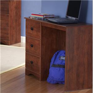 Casual Cinnamon Fruitwood 3-Drawer Student Desk