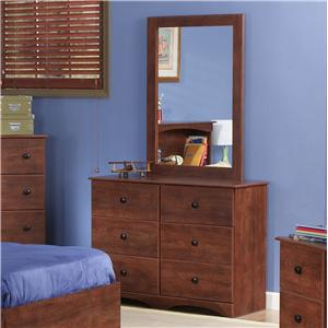 "Cinnamon 45"" 6-Drawer Dresser & Mirror Set"