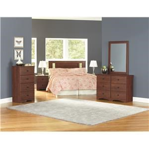 Twin Panel Headboard, Dresser, Mirror and Nightstand Package