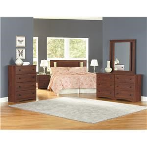 Queen Panel Headboard, Dresser, Mirror, Nightstand and Chest Package