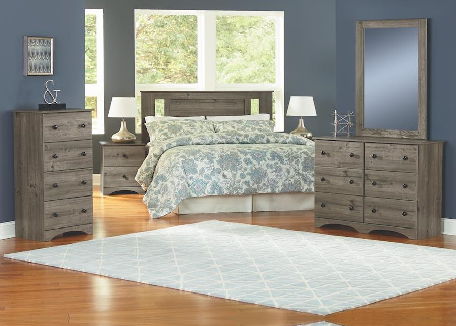 13000 Series 5 Piece Full Bedroom Group by Perdue at Sam Levitz Outlet