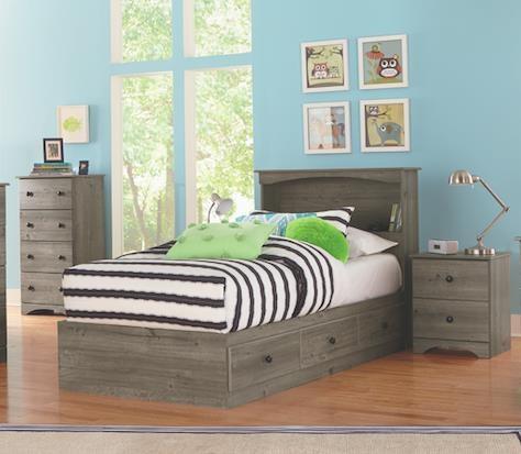 5 Piece Twin Storage Bedroom Group