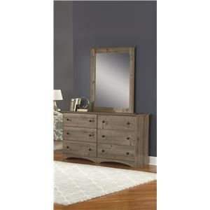 "59"" 6 Drawer Dresser and Mirror Package"