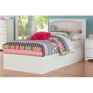 Full Mates Storage Bed with Paneled Headboard