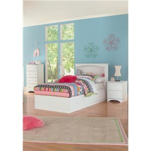 4 Piece Full Storage and Bookcase Headboard Group
