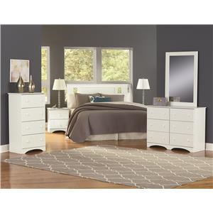 Full Panel Bed with Storage, Nightstand and Dresser Package