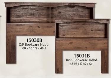 15000 Series Full Bookcase Headboard by Perdue at Sam Levitz Furniture