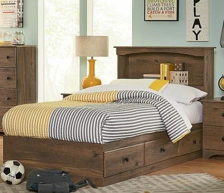 15000 Series 2 Piece Twin Bookcase Bed by Perdue at Sam Levitz Outlet