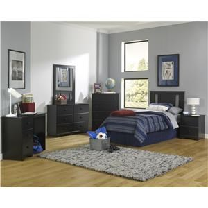 Full Panel Headboard, Dresser, Mirror, Nightstand and Chest Package