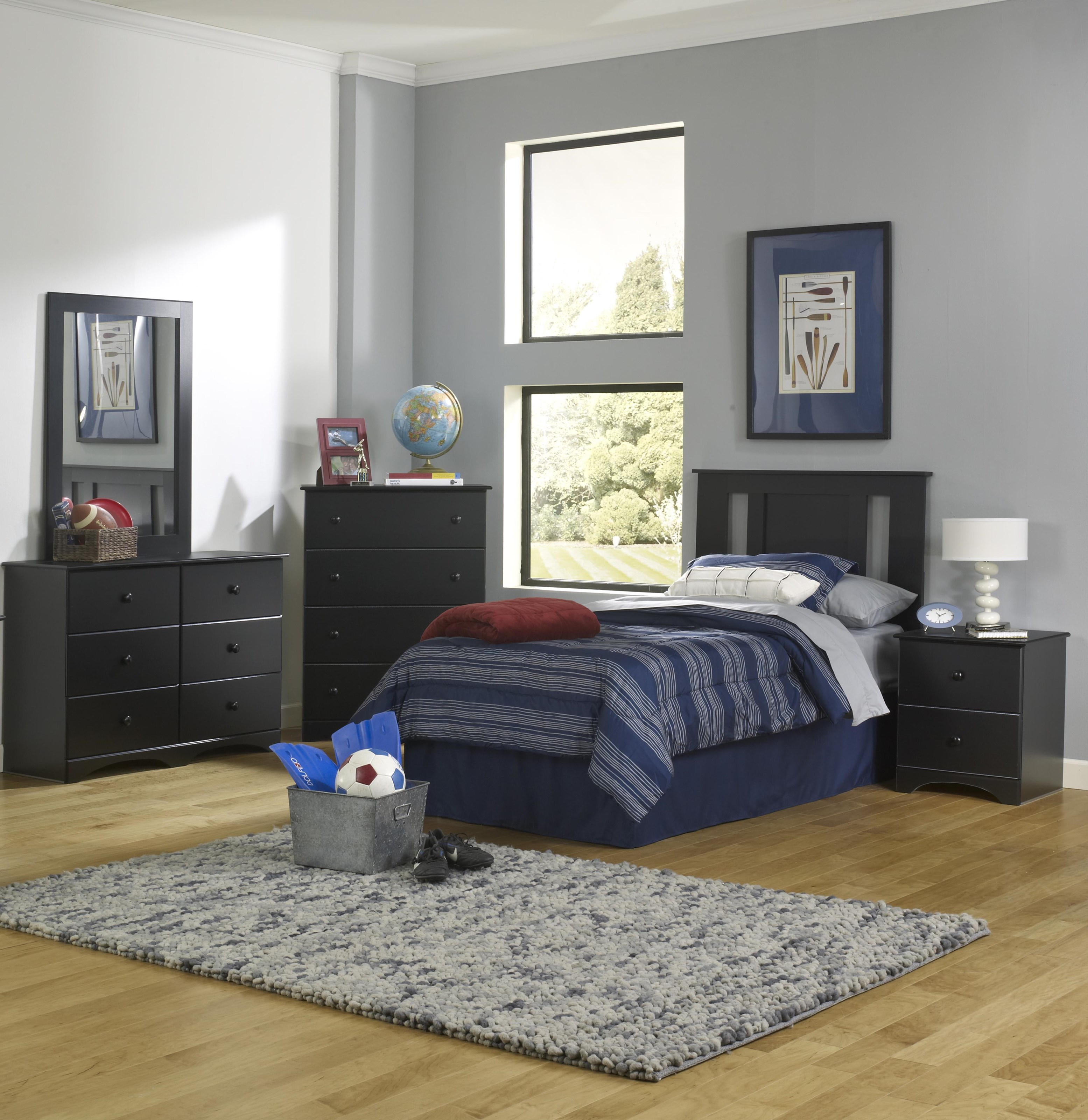 Twin Panel Bed with Storage Base Package