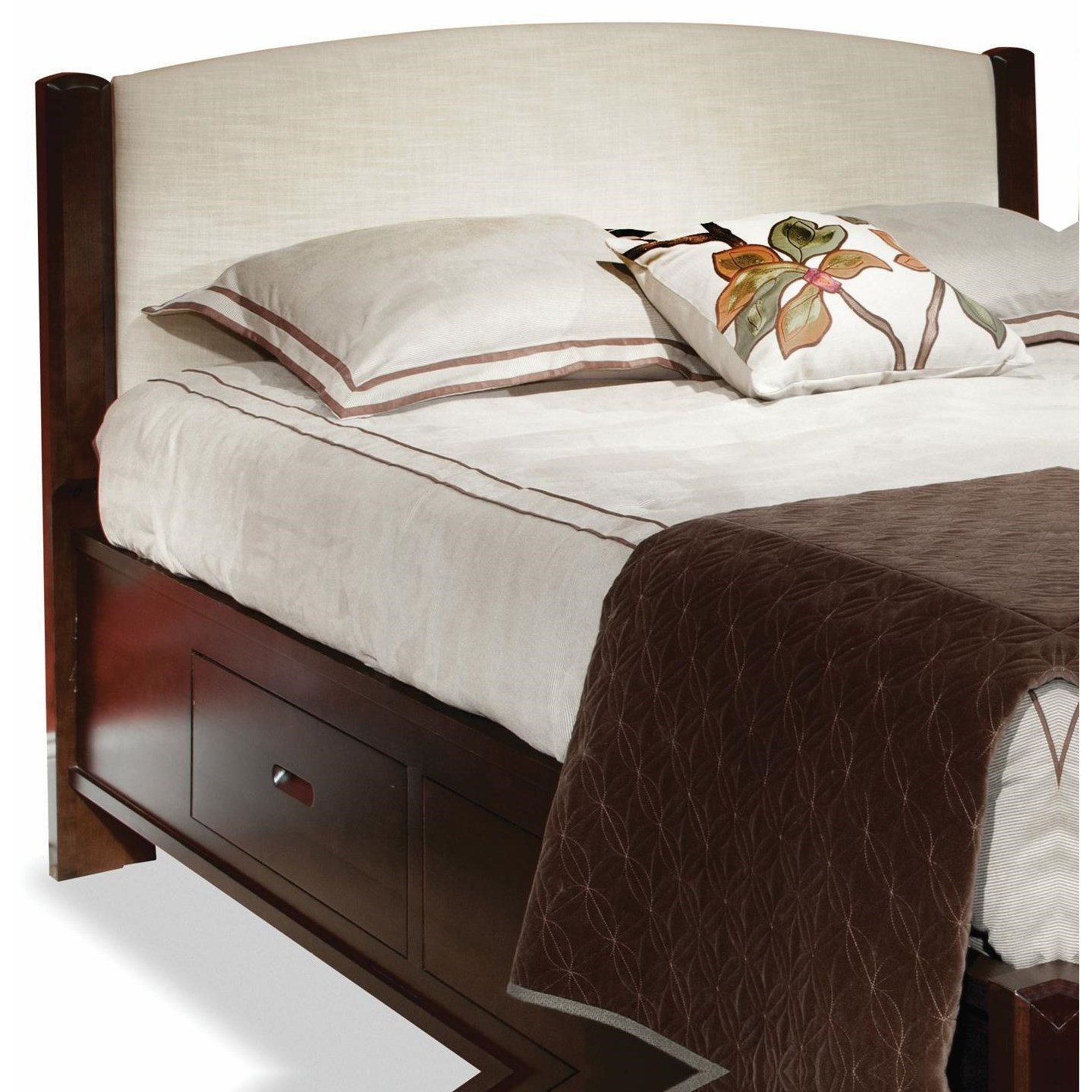 Beds Queen Fabric Panel Headboard by perfectbalance by Durham Furniture at Stoney Creek Furniture
