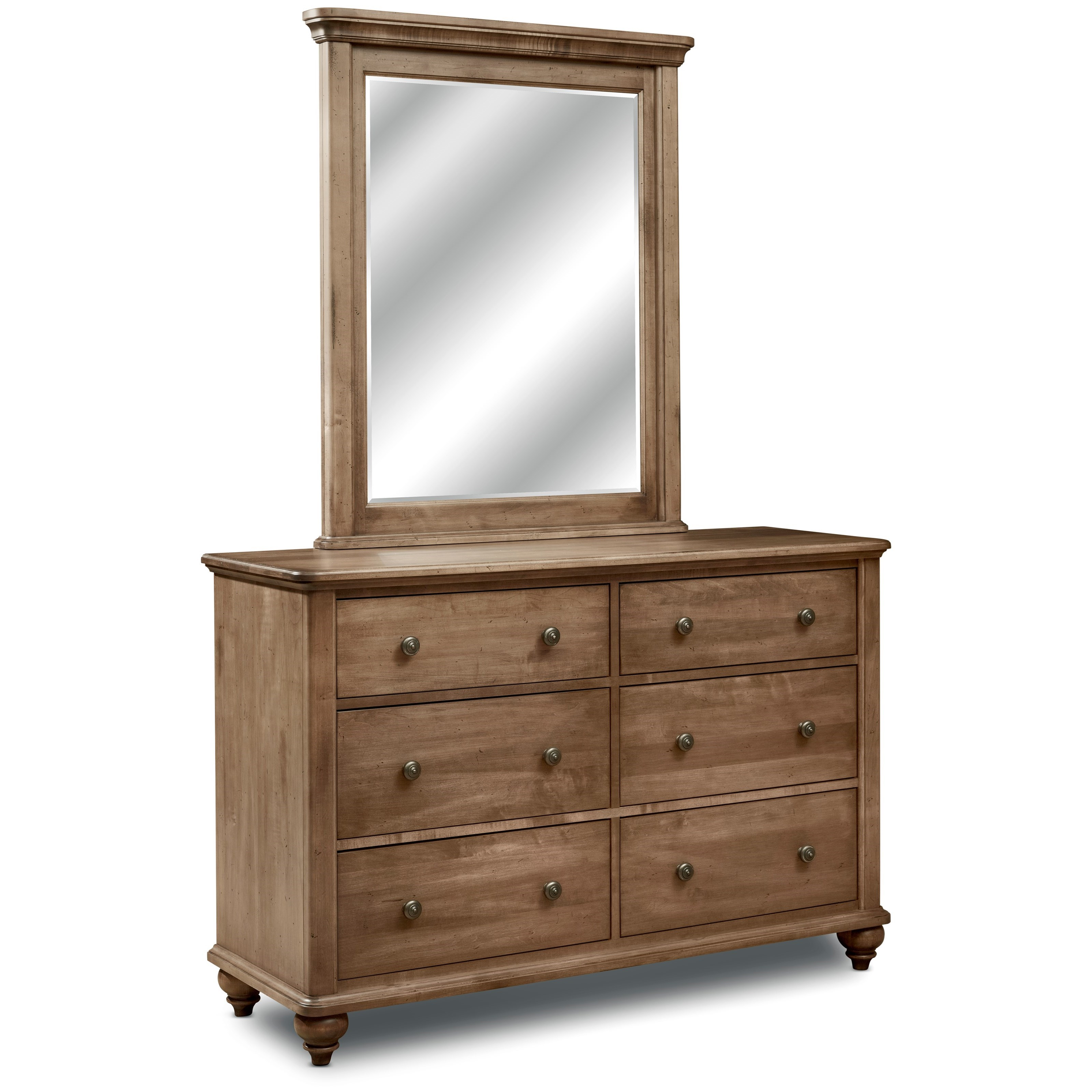 Millcroft Double Dresser and Mirror Set by perfectbalance by Durham Furniture at Stoney Creek Furniture
