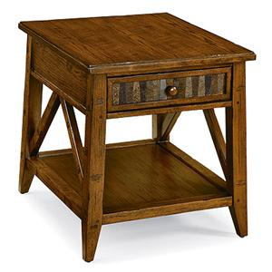 Peters Revington Creekside Drawer End Table With Stone