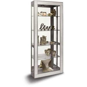 Argus Accent Cabinet with Faceted Bevel Mirrored Front Frame