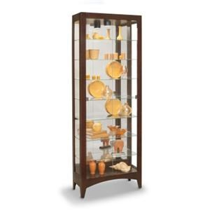 Simplicity II Curio Cabinet with Twin Butterfly Front Opening Doors