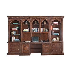 Philippe Langdon St. James Computer Desk and Bookcase