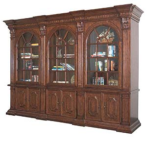 Philippe Langdon St. James Triple Curio Library