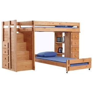 Pine Crafter Youth Bedroom Full/Twin Loft Bed