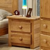 Pine Crafter Youth Bedroom 2 Drawer Night Stand