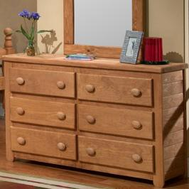 Pine Crafter Youth Bedroom 6 Drawer Dresser