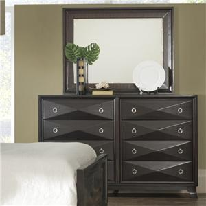 Pinewood International Concept Dresser and Mirror Combo