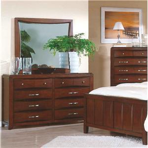 Pinewood International Casual Cherry Dresser & Mirror Combo