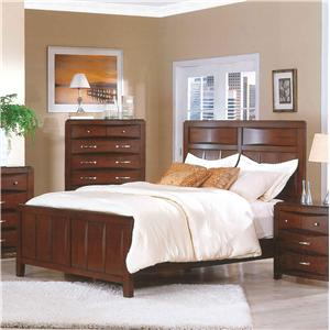 Pinewood International Casual Cherry Queen Headboard & Footboard Bed