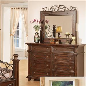 Pinewood International Coronado  Dresser and Mirror Combo