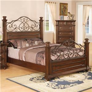 Pinewood International Coronado  Queen Headboard and Footboard Bed