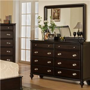 Pinewood International Marquis  Dresser and Mirror Combo