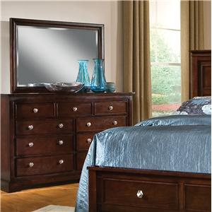 Pinewood International Park Place  Dresser and Mirror Combo