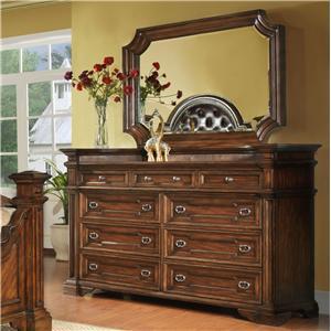 Pinewood International Wellington  Dresser and Mirror