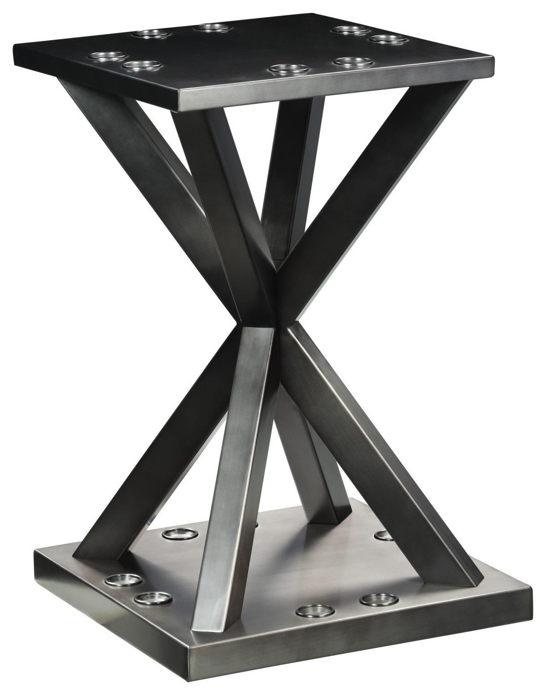 Vox Steel Floor Rack by Plank & Hide at Johnny Janosik