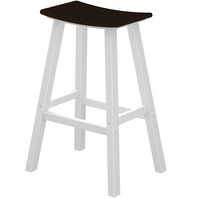 """Contempo Collection 30"""" Saddle Bar Stool by Polywood at Rooms and Rest"""