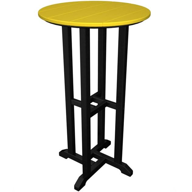 """Contempo Collection 24"""" Round Bar Table by Polywood at Rooms and Rest"""