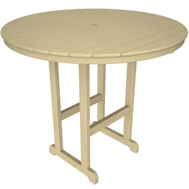 La Casa Cafe Round Bar Table by Polywood at Rooms and Rest
