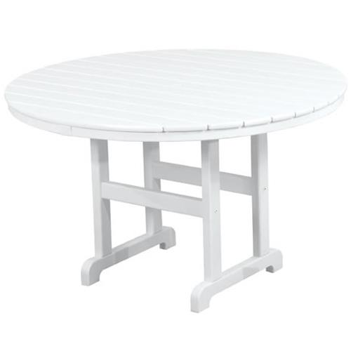 La Casa Cafe Round Dining Table by Polywood at Rooms and Rest