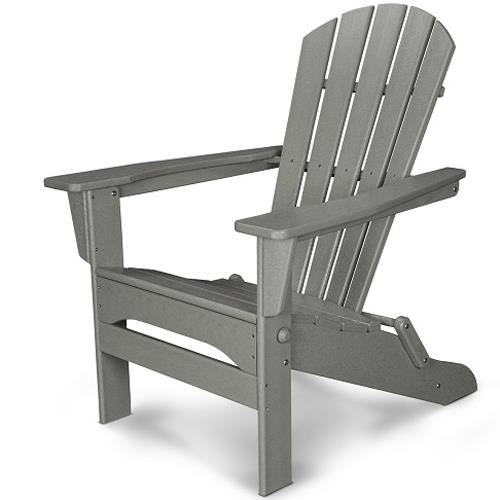 Palm Coast Folding Adirondack Chair by Polywood at Rooms and Rest