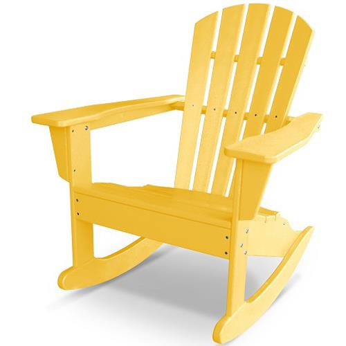 Palm Coast Adirondack Rocker by Polywood at Rooms and Rest