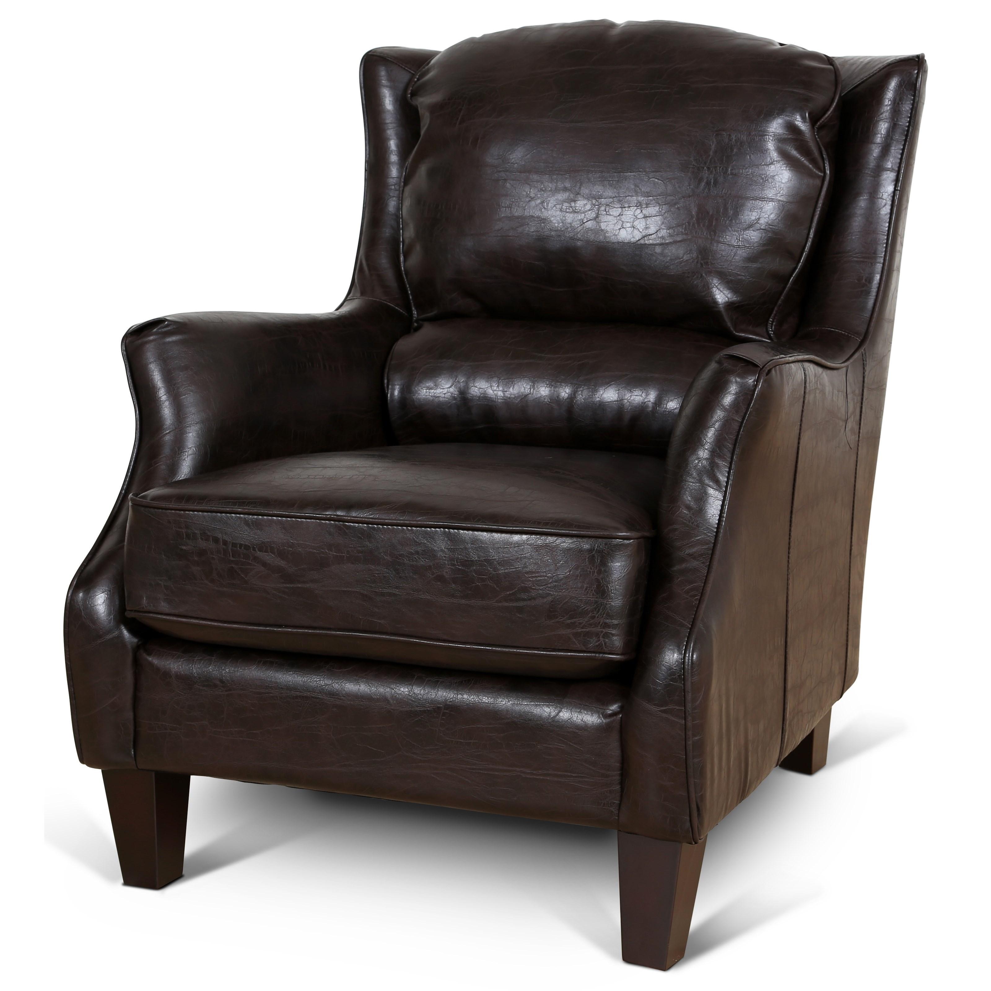 Garnett Wing Chair at Sadler's Home Furnishings